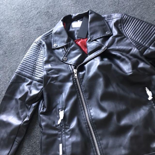 Saint morta leather biker jacket