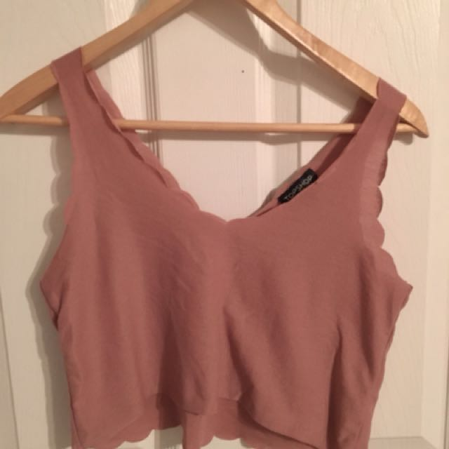 Scalloped Dusty Rose Crop