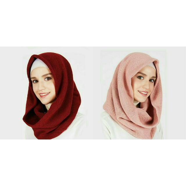 Scarf instan hijab rajut
