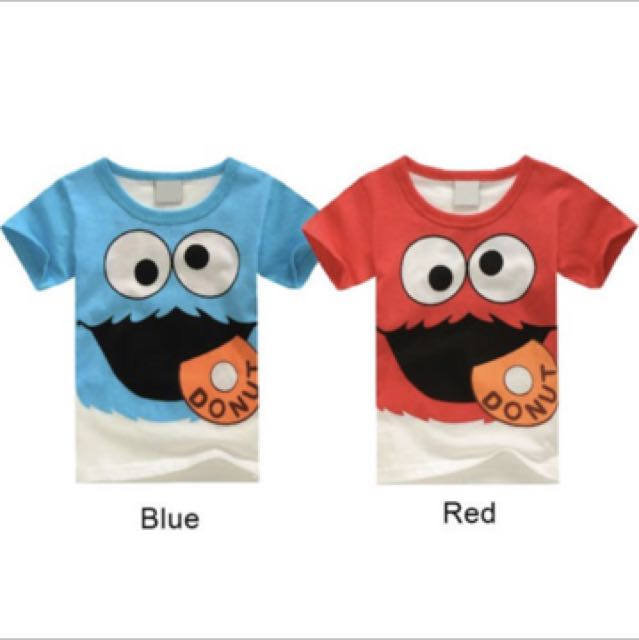 5478fdbc1 Sesame street elmo cookies monster t shirt tops baby boy infant ...
