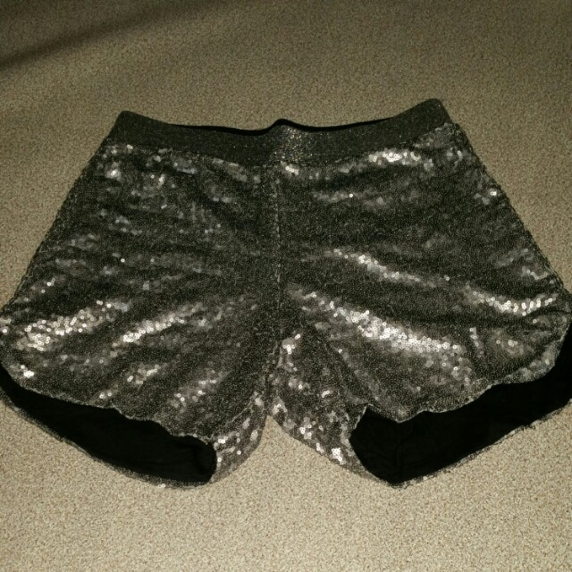 Silver sequin shorts black milk lookalike