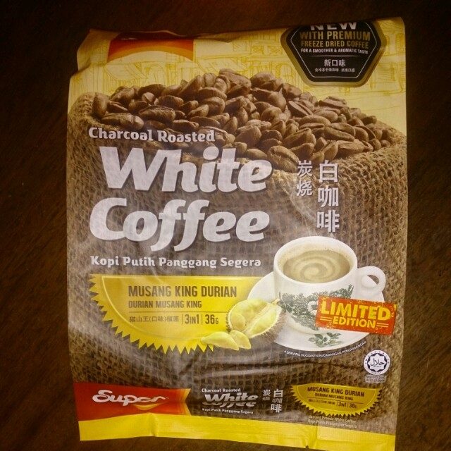 Super Charcoal Roasted White Coffee - Musang King Durian Limited Edition