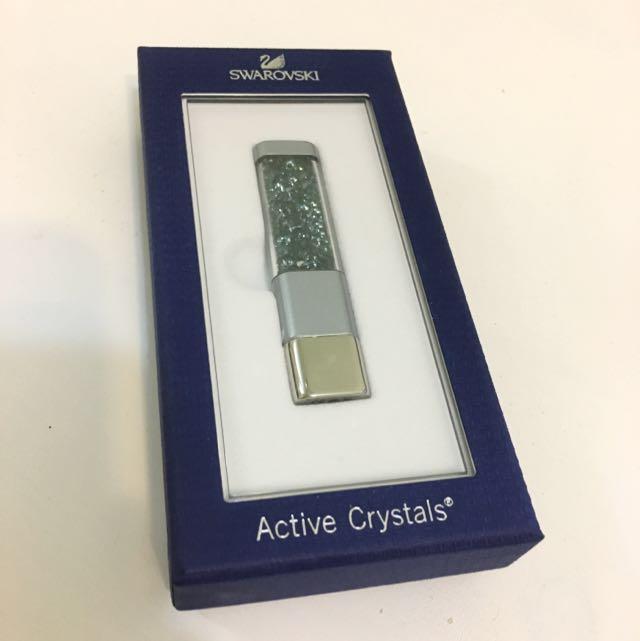 Swarovski Crystalline Blue Active Crystals USB Memory Stick 4GB