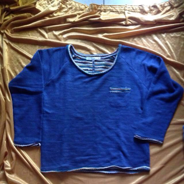 Sweater Rajut Biru