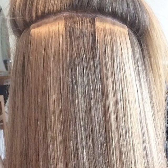Tape Hair Extension Installation