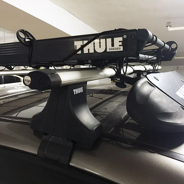 Thule Roof Rack with basket and wind fairing, Car Accessories on ...