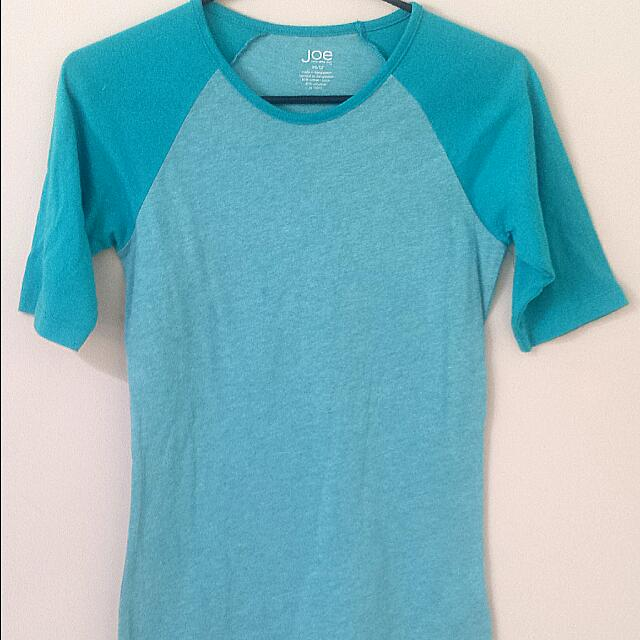 Joe Fresh Turquoise T-shirt xs