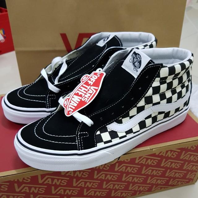 vans sk8 mid checkerboard