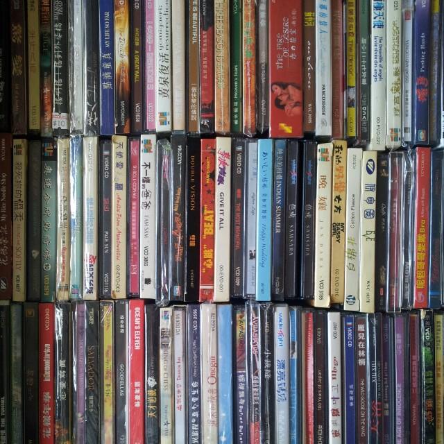 大量港中台日韓歐電影VCD
