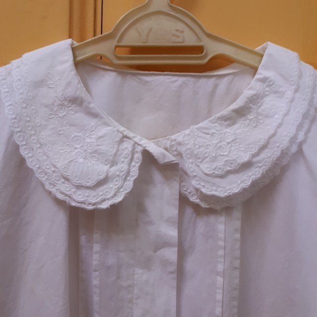 Vintage peter pan collar cotton top
