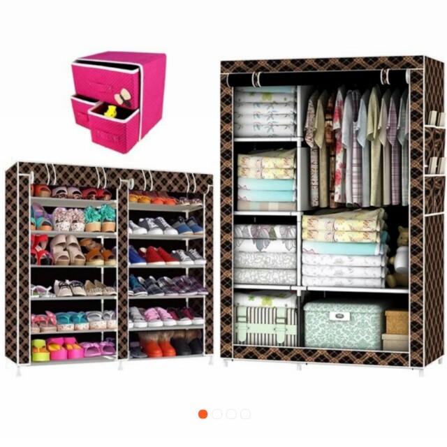 Wardrobe Cabinets Shoe Rack set