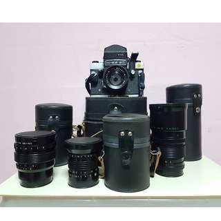 KIEB 60 TTL Medium Format Film Cameras + 4 Lenese