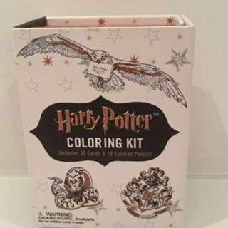 Bnib Harry Potter colouring kit