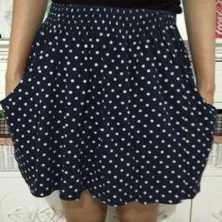 Zara Trafaluc Polka Mini Skirt