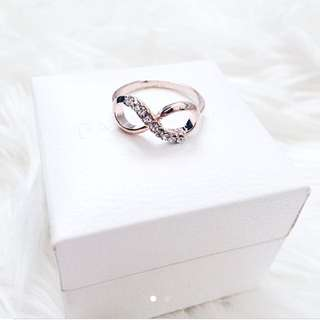 Brand New Rose Gold Infinity Ring