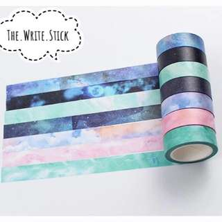Cloud Marble Galaxy Washi Tape Instocks