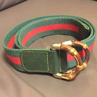Gucci配色, 布帶皮帶belt, 全長42寸半,男女合用,NOT Gucci(只係配色似)