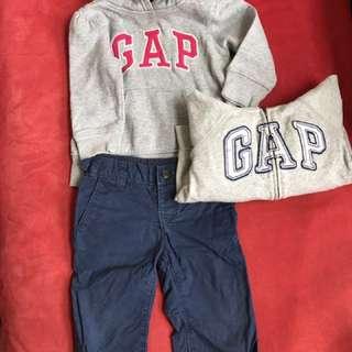 正品gap.帽T2歲.褲子1歲