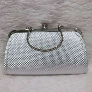 Small Silver Clutch Bag