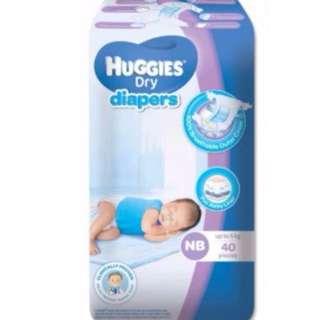 Huggies NewBorn Diapers 40pcs 200pesos