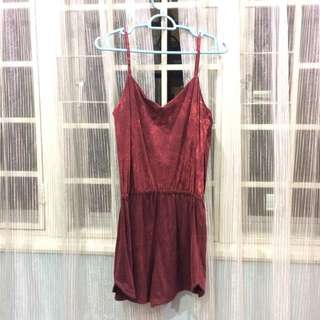 Wine Red Romper