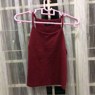Maroon Halter Neck Top