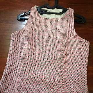 Pink Knit Dress (mango)