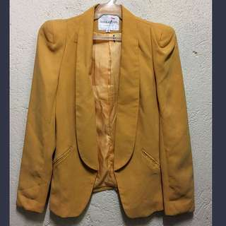 Blazer mustard color
