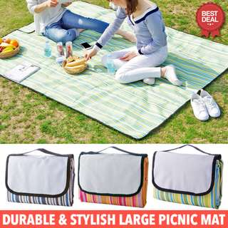 *New!!* Large Picnic Mat. Portable Folding Waterproof Beach Picnic Mat. Large Size, 200cm x 150cm. High Quality & Easy to Wash