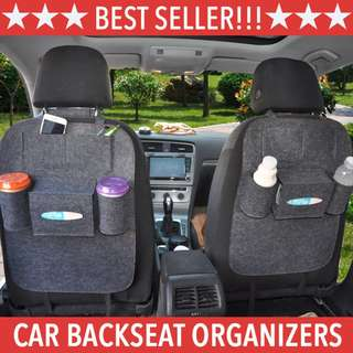 *Ready-Stock!!* Multi-Purpose Car Back Seat Organizer Storage Holder. Multi Pockets For Phone / Food / Drink / Bottle Storage. Car Accessories Bag.