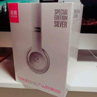 Beats solo 3 wireless earphone Silver