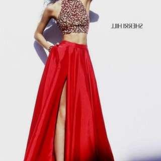 Sherri hills two piece formal dress