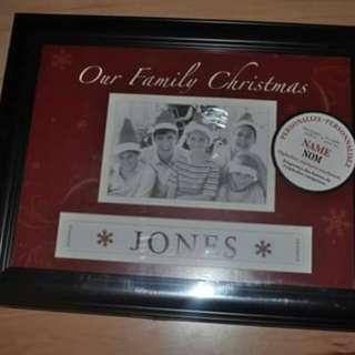 Family Christmas portrait Frame