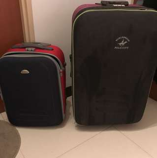 "Two wheel luggage cabin size & 30"" luggage selling cheap"