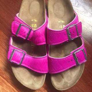 Birkenstock Sandals Arizona Fur Pink-40