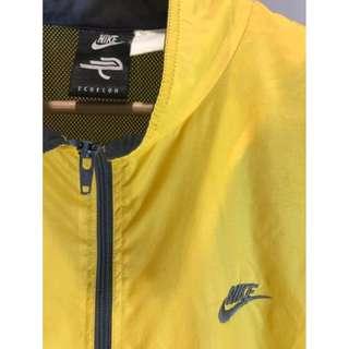 Vintage Nike Yellow Echelon zip up windbreaker M