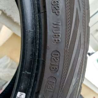 Tyre Secondhand 245 40 18 dunlop