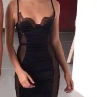 Oh Polly Black Lace Dress