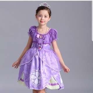 *SALE @ $25.90!*Princess Sofia Princess Dresses Costume Role Play Pretend Play Party Dress Fairy Tales Dress Kids Children Girls