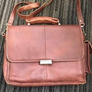 Classic Style Leather Laptop Bag