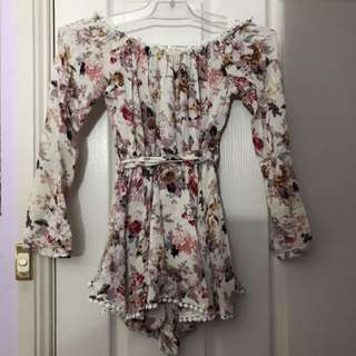Mura Boutique Floral Off Shoulder Playsuit