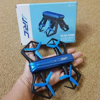 BRAND NEW MODEL JJRC Blue Crab HD 2MP 720P Unique Foldable Selfie Drone