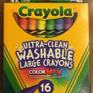 Crayola Ultra Clean Washable Large Crayon Non Toxic