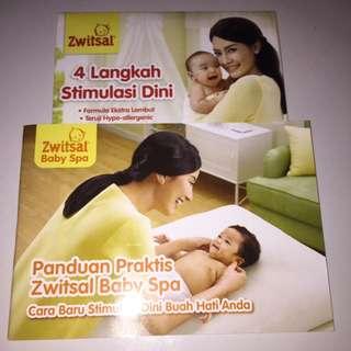 Dvd stimulasi dini dan buku panduan zwitsal baby spa