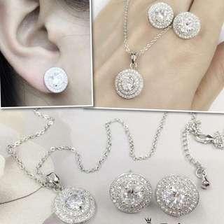 Pandora Set Earrings & Necklace