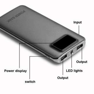 50000mAh Power Bank LED Dual USB LCD External Battery Mobile Phone Charger