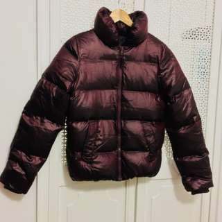 Women Burgundy GAP puffer jacket