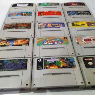 Nintendo Super famicom snes sfc cartridges