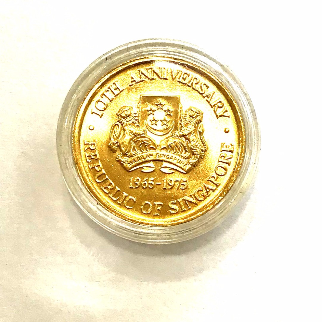 100 Dollars Singapore Gold Coin Vintage Amp Collectibles Currency On Carousell