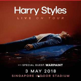 Harry Styles 3rd May 2018 Concert Ticket